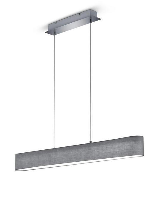 LED-HÄNGELEUCHTE - Chromfarben/Grau, LIFESTYLE, Kunststoff/Metall (100,0/150,0/8,5cm)