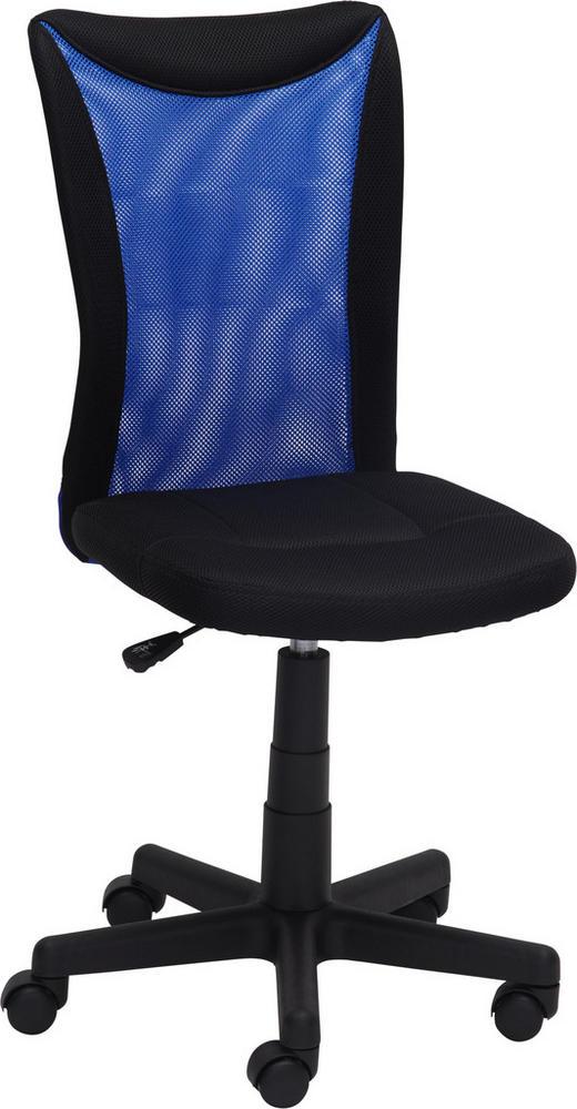 JUGENDDREHSTUHL - Blau/Schwarz, Design, Kunststoff/Textil (42/88-98/58,5cm) - Xora