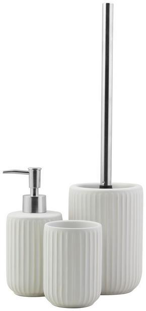 TOALETTBORSTSET - vit, Klassisk, plast/keramik