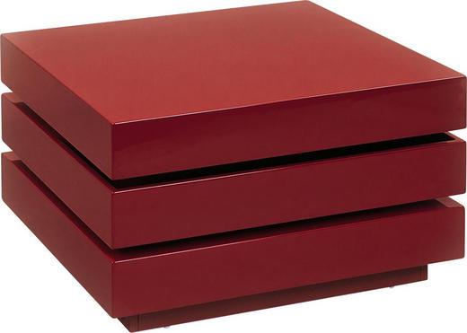 COUCHTISCH Rot - Chromfarben/Rot, Design (70/70/39cm) - Carryhome