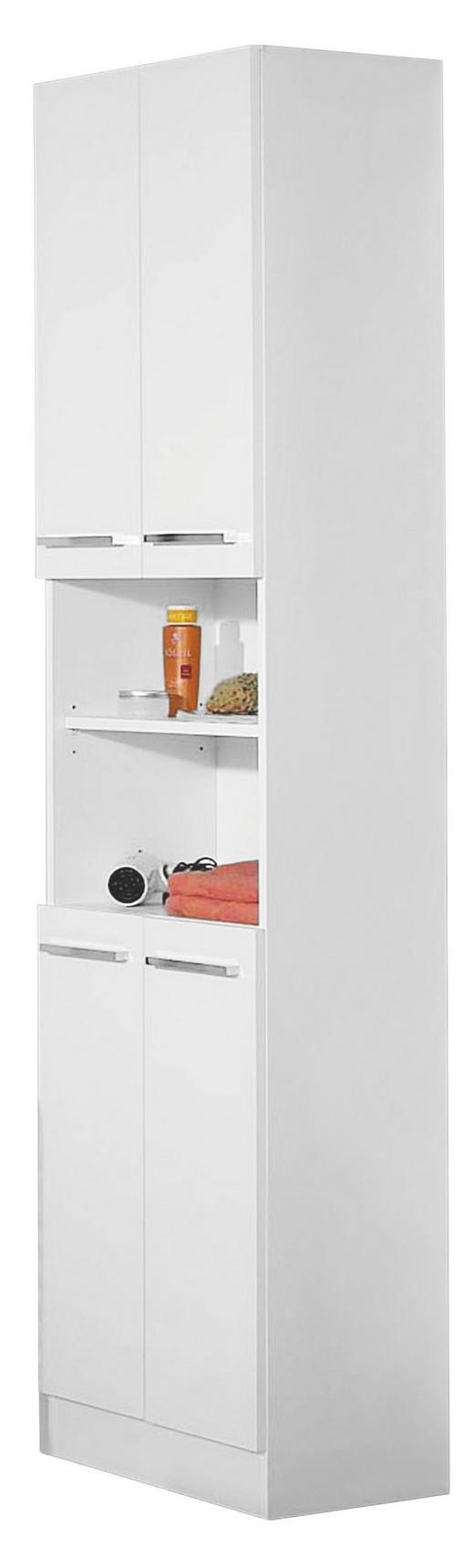 HOCHSCHRANK Weiß - Chromfarben/Weiß, Design, Holzwerkstoff (50/195,5/33cm) - Carryhome