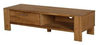 TV-ELEMENT 121/31/43 cm  - Eichefarben/Alufarben, Design, Holz/Metall (121/31/43cm) - Carryhome