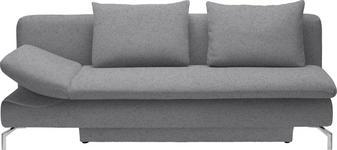 SCHLAFSOFA Hellgrau - Hellgrau/Alufarben, Design, Textil/Metall (213/90/94cm) - DIETER KNOLL