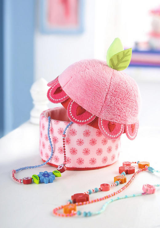 Schmuckdose - Pink, Basics, Textil (9,5/13cm) - Haba