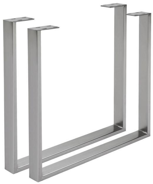 TISCHGESTELL Edelstahlfarben - Edelstahlfarben, Design, Metall (78/72/7,5cm) - Valdera