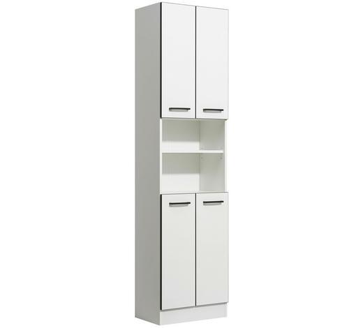 HOCHSCHRANK 50/195,5/33 cm - Anthrazit/Weiß, KONVENTIONELL, Glas/Holzwerkstoff (50/195,5/33cm) - Xora