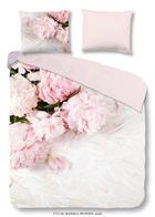 POSTELJINA - svijetlo ružičasta/bijela, Lifestyle, tekstil (140/200cm)