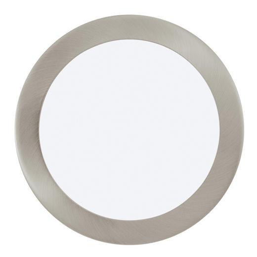 WANDLEUCHTE - Silberfarben/Weiß, Design, Metall (22,5/3cm)