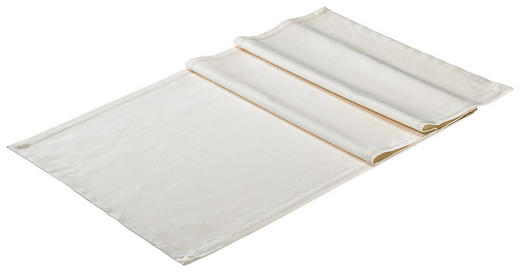 TISCHLÄUFER Textil Creme 50/150 cm - Creme, Basics, Textil (50/150cm)