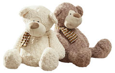 PLÜSCHTIER Teddybär  - Creme/Braun, Basics, Textil (24cm) - My Baby Lou