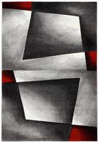 TKANA PREPROGA RUBIN DIAMOND - rdeča, Design, umetna masa/tekstil (120/170/cm) - Novel