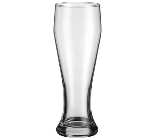 Weizenbierglas 500 ml  - Transparent, Basics, Glas (0,5l) - Homeware