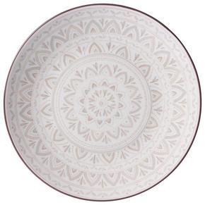 MATTALLRIK - creme/brun, Klassisk, keramik (26,5cm) - Ritzenhoff Breker