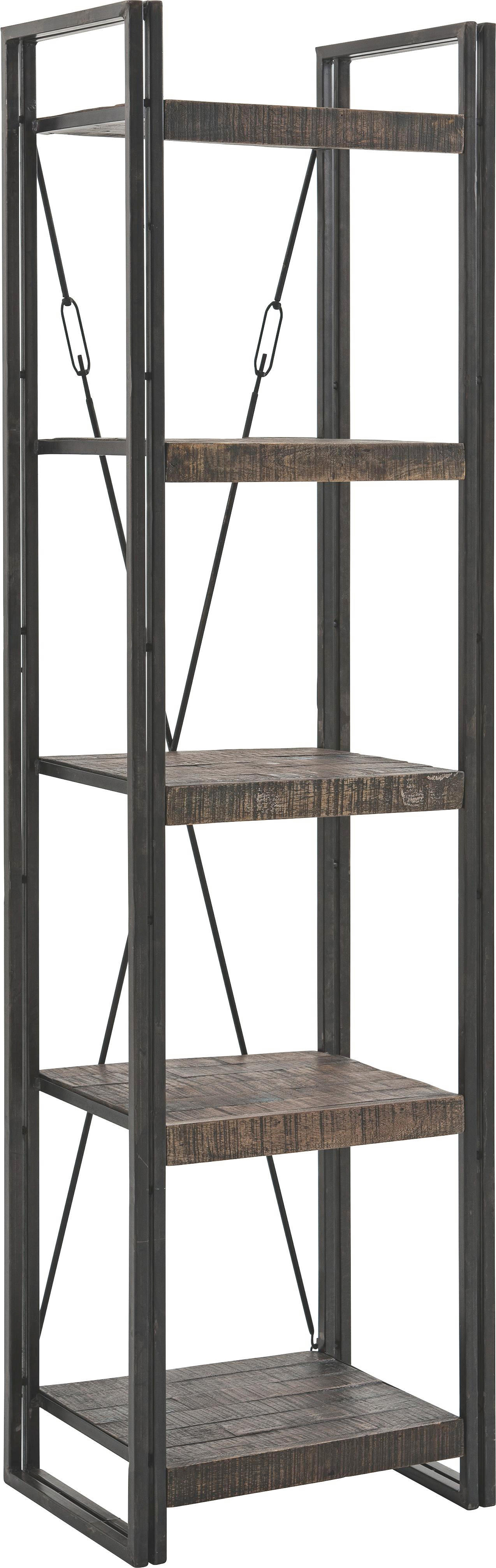 HYLLA - brun, Design, metall/trä (55/200/40cm)