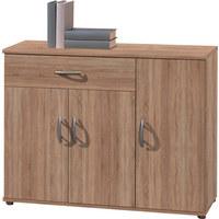 KOMMODE 90/70/30 cm - Silberfarben/Sonoma Eiche, KONVENTIONELL, Holzwerkstoff/Kunststoff (90/70/30cm) - Carryhome