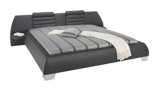 POLSTERBETT Lederlook 180/200 cm - Silberfarben/Schwarz, Design, Textil/Metall (180/200cm) - ESPOSA