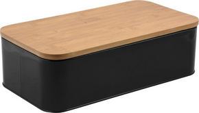 BRÖDLÅDA - svart/naturfärgad, Basics, metall/trä (20cm)