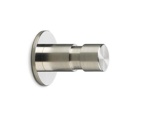 WANDHAKEN - Edelstahlfarben, Design, Metall (0/0/0cm)