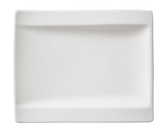 Fine China  DESSERTTELLER  rechteckig - Weiß, Basics, Keramik (18/15cm) - Villeroy & Boch