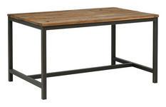 ESSTISCH in Holz, Metall 140/90/75 cm   - Dunkelgrau/Braun, Trend, Holz/Metall (140/90/75cm) - Landscape