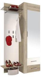 PREDSOBLJE - bijela/hrast Sonoma, Design, staklo/drvni materijal (110/198/36cm) - Boxxx