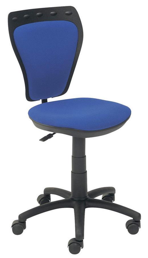 JUGENDDREHSTUHL Blau, Schwarz - Blau/Schwarz, KONVENTIONELL, Kunststoff/Textil (55/70,9-97,5/43-47cm)