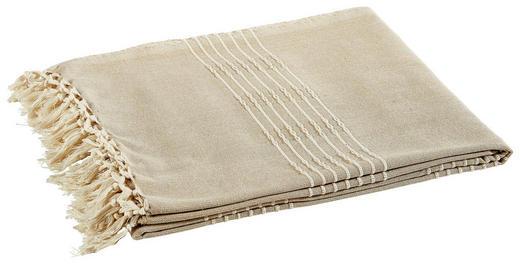 PLAID 150/180 cm Hellbraun - Hellbraun, Basics, Textil (150/180cm)