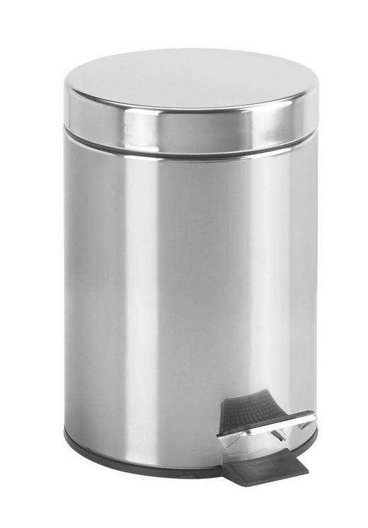 TRETEIMER Paul 3 L - Edelstahlfarben/Schwarz, Basics, Kunststoff/Metall (16,8/24cm) - Celina