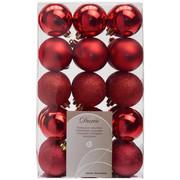 CHRISTBAUMKUGEL-SET 30-teilig - Rot, Basics, Kunststoff (6cm)