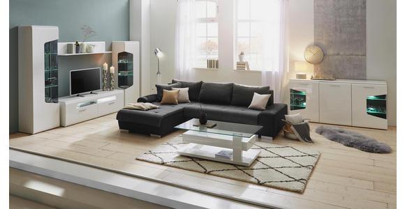 WOHNWAND in Eichefarben, Weiß - Eichefarben/Silberfarben, Design, Glas/Holzwerkstoff (300,4/201/52cm) - Hom`in