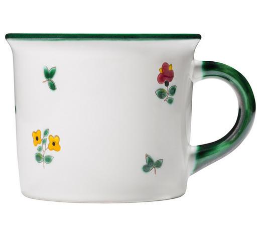 KAFFEEBECHER 240 ml  - Grün, LIFESTYLE, Keramik (8/9,5/12cm) - Gmundner