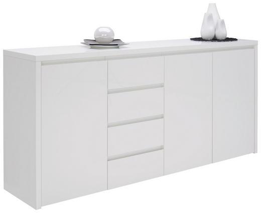 SIDEBOARD Hochglanz, lackiert Weiß - Weiß, Design, Holzwerkstoff (192,2/92,2/45cm) - Voleo