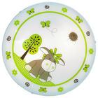 DJEČJA STROPNA SVJETILJKA - bijela/zelena, Konvencionalno, staklo/metal (39,5/10cm) - My Baby Lou