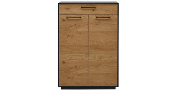 SCHUHSCHRANK 86/124/37 cm  - Eichefarben/Anthrazit, Design, Holz/Holzwerkstoff (86/124/37cm) - Dieter Knoll