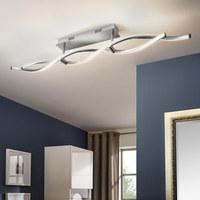 LED-DECKENLEUCHTE - Nickelfarben, Design, Metall (110/8/15,6cm)
