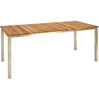 GARTENTISCH - Edelstahlfarben/Teakfarben, Design, Holz/Metall (200/95/76cm)