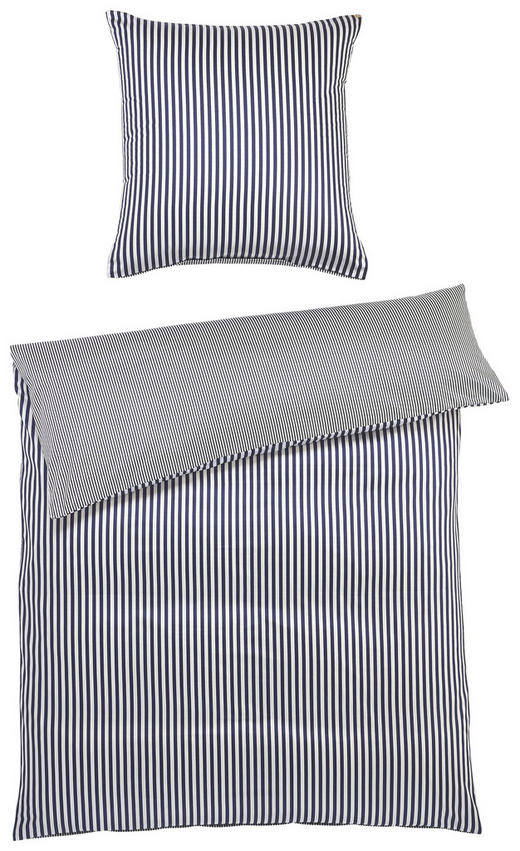 BETTWÄSCHE Satin Blau 200/200 cm - Blau, Basics, Textil (200/200cm) - JANINE