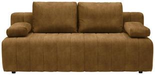 SCHLAFSOFA in Textil Gelb  - Gelb/Schwarz, MODERN, Kunststoff/Textil (198/87/92cm) - Xora