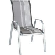 STAPELSESSEL - Silberfarben/Grau, Design, Textil/Metall (55/96/72cm) - Xora