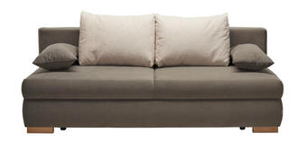 ROZKLÁDACÍ POHOVKA - šedá/barvy dubu, Konvenční, dřevo/textil (206/77-92/100cm) - VENDA