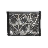 DEKORAČNÍ KOULE - barvy stříbra/průhledná, Basics, kov/umělá hmota (3/8/6cm) - Ambia Home