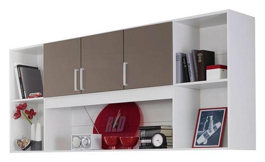 REGAL Grau, Weiß - Silberfarben/Weiß, Design, Kunststoff (212/93/38cm) - Carryhome
