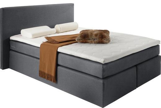 BOXSPRINGBETT Webstoff 140/200 cm  INKL. Matratze, Topper - Anthrazit, Design, Textil (140/200cm) - Carryhome