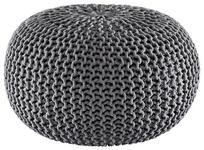 POUF Uni Grau - Grau, Trend, Textil (55/35cm) - Linea Natura