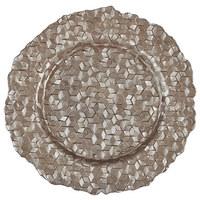 PLATZTELLER  32 cm - Taupe, Design, Glas (32cm) - Ambia Home