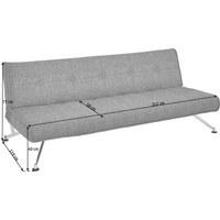 SCHLAFSOFA in Metall, Textil Grau - Chromfarben/Grau, Design, Textil/Metall (212/19/119cm) - Innovation