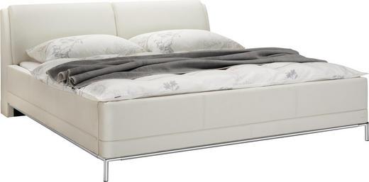BETT 180/200 cm - Chromfarben/Weiß, Design, Textil (180/200cm) - Welnova