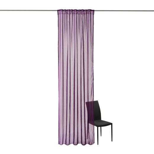 FERTIGVORHANG  transparent  135/300 cm - Lila, KONVENTIONELL, Textil (135/300cm) - Boxxx