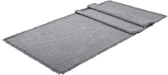 Leinen Tischläufer Textil Anthrazit 40/140 cm  - Anthrazit, KONVENTIONELL, Textil (40/140cm) - Esposa