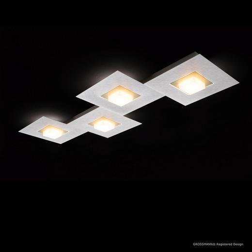 LED-DECKENLEUCHTE - Champagner/Alufarben, MODERN, Metall (80/30/5cm)